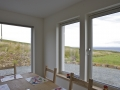 Holiday home on Skye with ocean view from the dining.