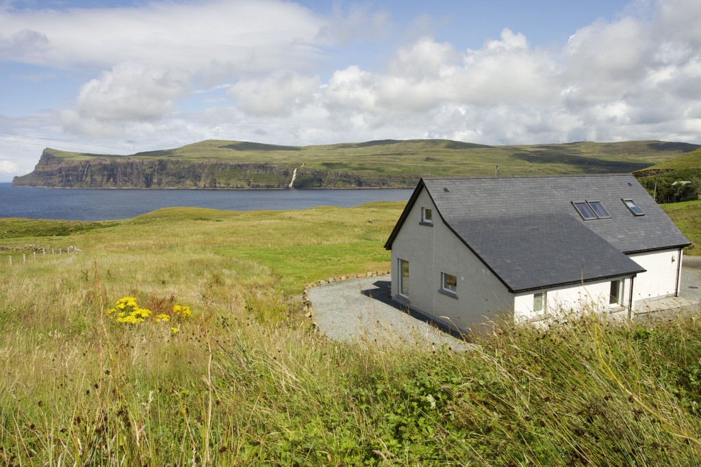 Layout of coastal self catering holiday home on Skye with seaview.