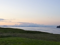 Sunset from coastal self catering cottage on Skye.